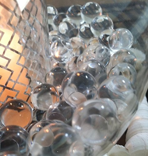 1000pc Transparent Water Absorbing Gel Beads Used For Floating Pearls and Vase Fillers (Pearls Not Included)]()