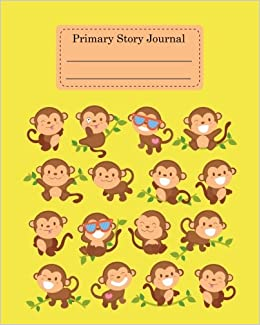 Primary Story Journal: Monkey Kids Creative Writing Composition Book