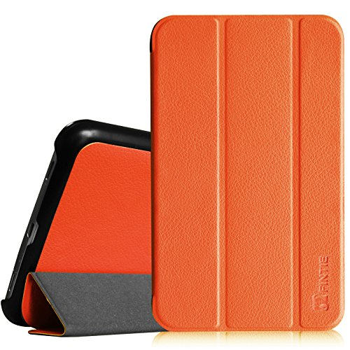 Fintie Slim Shell Case for Samsung Galaxy Tab 3 7.0 - Ultra Lightweight Protective Stand Cover (Orange) (Samsung Galaxy Tablet Sports Case)