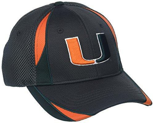 Zephyr NCAA Miami Hurricanes Adult Men Torque, X-Large, Charcoal