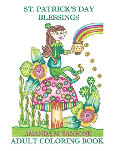 St. Patrick's Day Blessings: Adult Coloring -