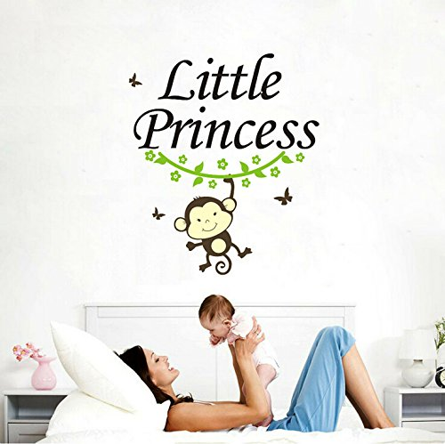 - Little Monkey Little Princess Vinyl Wall Decal for Kids and Nursery Room