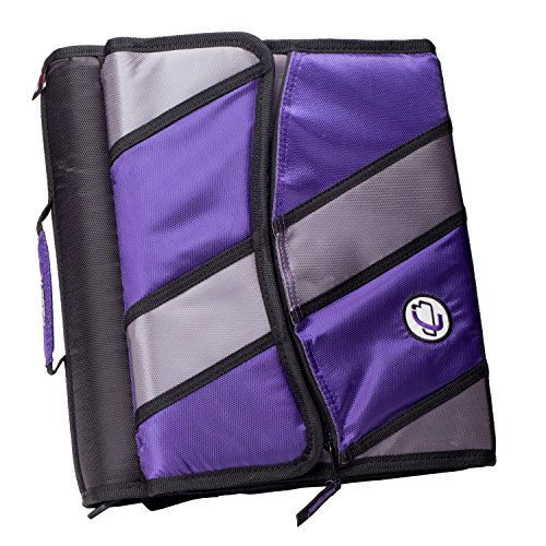 Case-it Sidekick 2-Inch O-Ring Zipper Binder with Removable Tab File, Purple, D-901-PUR by Case-It