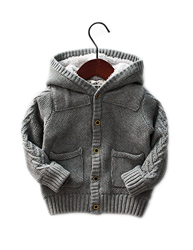 aeb208d14410 Dealone Baby Boys Hoodies Toddler Long Sleeve Pocket Knit Sweaters ...