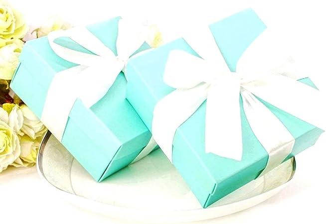 JZK 50 x Caja favores boda caja regalo cajitas detalle para boda cumpleaños fiesta bautizo graduación fiesta navidad bienvenida bebé: Amazon.es: Hogar