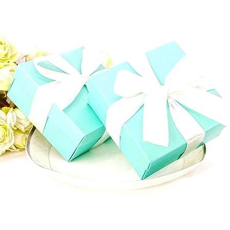 JZK 50 x Caja favores boda caja regalo cajitas detalle para boda cumpleaños fiesta bautizo graduación fiesta navidad bienvenida bebé