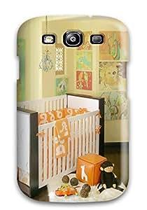 Cute Appearance Cover/tpu EGbysdV3584GeSZl Unisex Nursery With Orange Bedding And White Crib With Dark Wood Trim Case For Galaxy S3