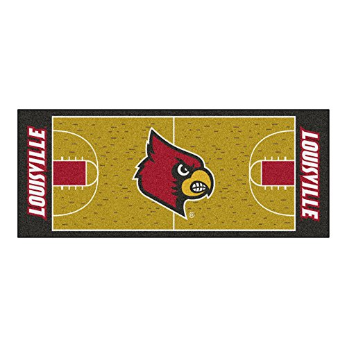 (FANMATS NCAA University of Louisville Cardinals Nylon Face Basketball Court Runner)