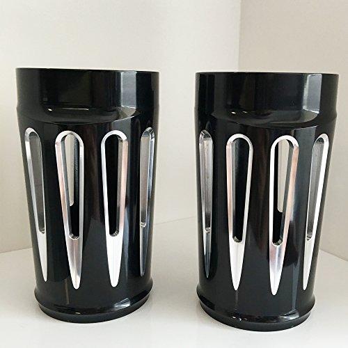 TJMOTO CNC Black Deep Cut Upper Boot Slider Fork Covers for Harley Davidson Touring 2014-2016 Electra Glide Road King Street Glide