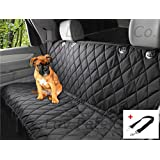 Luv Pets Co. X-Large Luxury Dog Seat Cover - Dog Hammock - Travel Car Seats Covers - Rear Seat Protector - Heavy Duty & Waterproof with Side flaps & A Free Safety Seat Belt