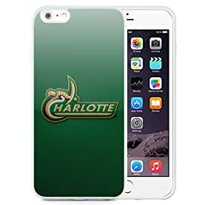 Beautiful And Popular Designed With Fcs North Carolina Charlotte 49ers 03 Protective Cell Phone Hardshell Cover Case For iPhone 6 Plus 5.5 Inch White
