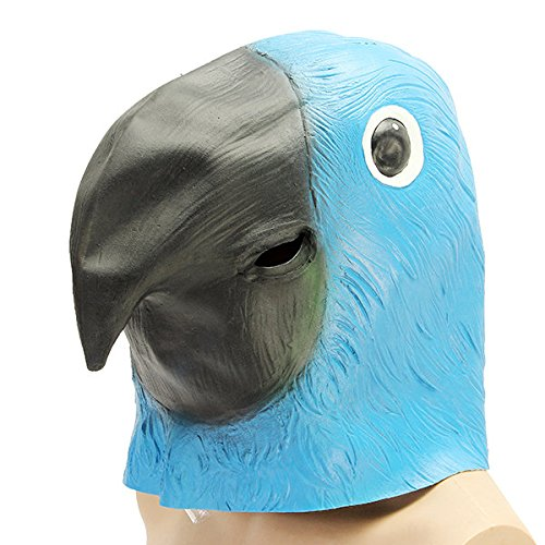 Chief Confront Cloak - Parrot Bird Mask Creepy Animal Halloween Costume Theater Prop Party Deluxe Latex Anima - Steer Typeface Head Mind Aspect Arch Human Strait Teacher Look Word - 1PCs
