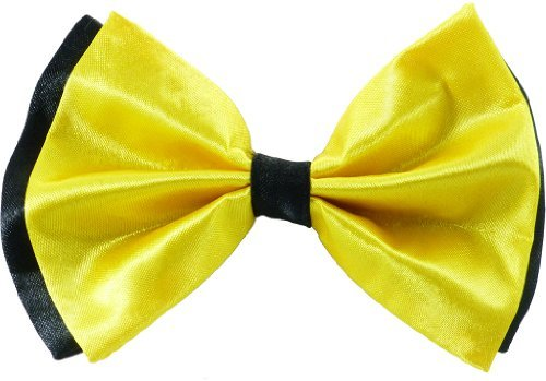 JTC Belt Great Quality Pre-Tied Bow Tie Yellow & Black
