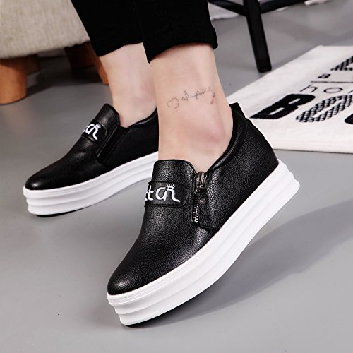 8715 New Dress UK QYYQ Shoes Black Elegant Walking Salabobo Fashion Size3 Leisure 5 Flat Womens tHw5xUq