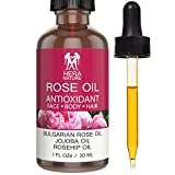 Hera Nature Rose Antioxidant Bulgarian Essential Oil, 100% Pure, in Jojoba & Rosehip Oil, Therapeutic Grade (1oz)