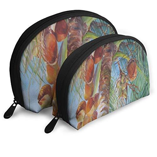 Makeup Bag Coco Sun Portable Shell Storage Bag For Girlfriend Halloween Gift 2 Pack