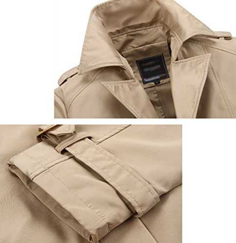 Autumn Trend Casual Men Khaki Windbreaker Self Autumn Middle Thin Jacket The aged New cultivation Men's Korean Version Section Spring And 0UxtHcwqCg