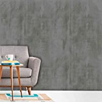 Papel de Parede Auto Adesivo Lavável Cimento Queimado C0006 Cinza Escuro