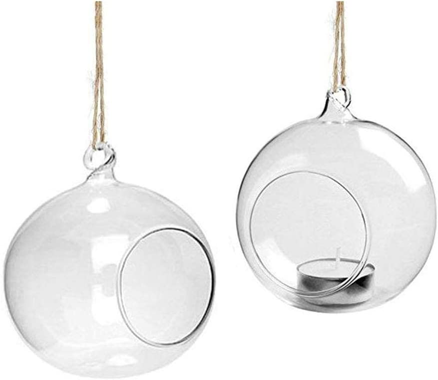 DaoRier Boule Verre a Suspendre Transparent Vase en Verre Terrarium D/écor /À La Maison