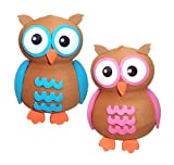 Quantity 2 pcs pack - Tenna Tops Cute Owl Set Car Antenna Toppers Antenna Balls Mirror Danglers