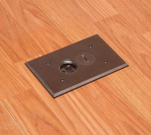 Arlington Flbr101br Electrical Box Floor Kit With Outlet And