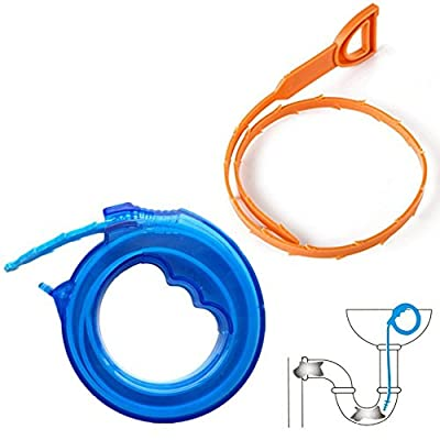 Daixers 2PCS Hair Drain Clog Remover Drain Relief Tool for Drain Cleaning Blue17'' Yellow 20''(2 Pairs)