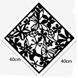 xiangshang shangmao 8X Butterfly Flower Hanging Screen Curtain Room Divider Partition Wall Home Black