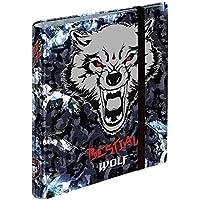 Dis2 - Carpeta anillas recambio bestial wolf negro