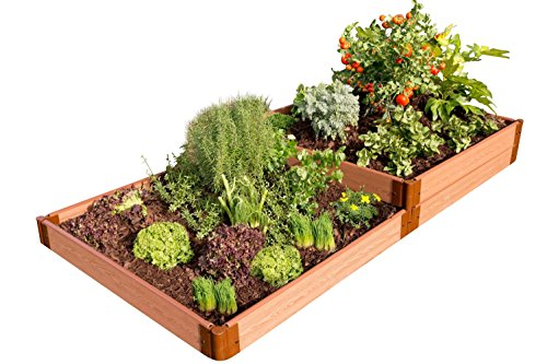 Cheap  Frame It All 300001405 Composite Terraced Multi-level Raised Garden Bed Kit, 4'..