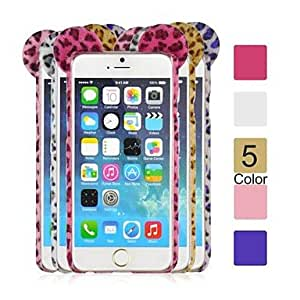 LCJ Angibabe TPU+PC Leopard Print Phone Back Cover for iPhone 6 (Assorted Colors) , Pink