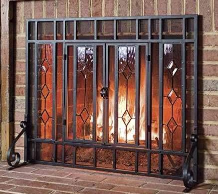 en Gate- Black Steel Metal Mesh with Hinged Doors Tempered Glass Panels Large Beauty in Any Season-Maximum Coverage and Protection ()