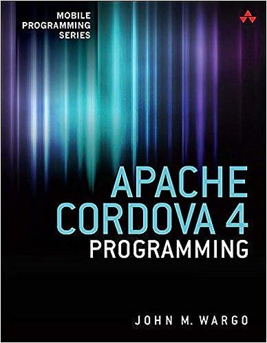 Amazon com: Apache Cordova 4 Programming (Mobile Programming