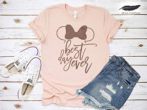 Minnie Mouse, Best Day Ever T-Shirt, Funny Cute Matching Disney Shirts for Ladies, Girls Summer Tanks