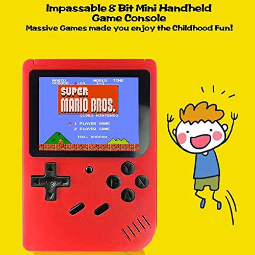 RoJuicy Mini Handheld Game Console, Retro FC Game Console, Video Game Console with 3 Inch Color Screen 400 Classic Games Support TV Video Game Player tick for Birthday Presents by RoJuicy (Image #6)