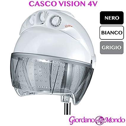 Casco pelo Peluquería blanco negro O gris campana con agujeros Vision 4 V Ceriotti arredamento