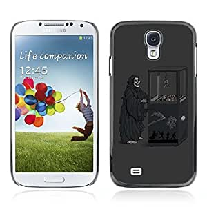 Colorful Printed Hard Protective Back Case Cover Shell Skin for Samsung Galaxy S4 IV (I9500 / I9505 / I9505G) / SGH-i337 ( Funny Grim Reaper Game Machine )
