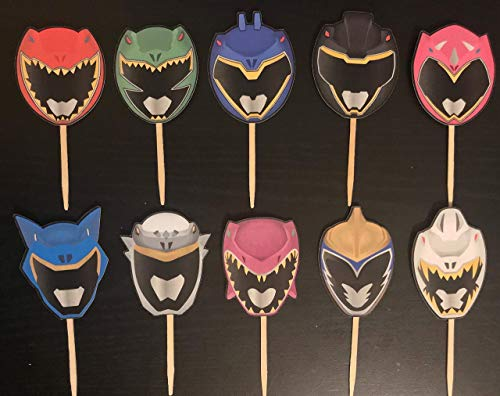 Inspired Dino chargre Cupcake Toppers -