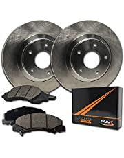 2015 for Cadillac ATS Rear Premium Quality Anti Rust Coated Disc Brake Rotors And Ceramic Brake Pads - One Year Warranty Stirling For Both Left and Right