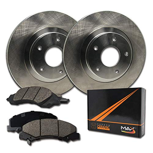 Max Brakes Front Premium Brake Kit [ OE Series Rotors + Ceramic Pads ] KT052641 | Fits: 2010 10 2011 11 Mitsubishi Lancer DE/ES Models