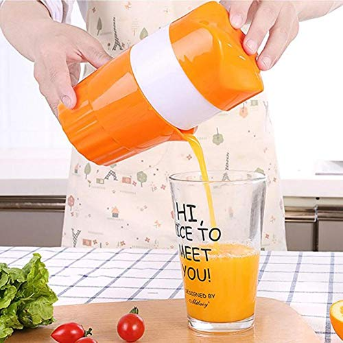 ZY Manual Juicer Orange Squeezer- Manual Lid Rotation Citrus Juicer Squeezing Plastic Kitchen Tool-2Pcs