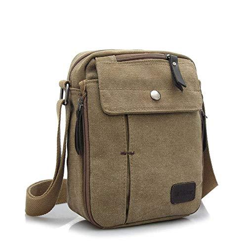 Crossbody Yiyilai Canvas Messenger Travel Leisure Men Khaki Outdoor Bag wOf6FqO