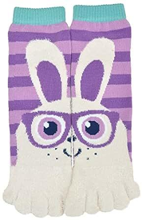 Flirt Girls Animal Soft Tube Finger Toe Socks, Bunny Rabbit