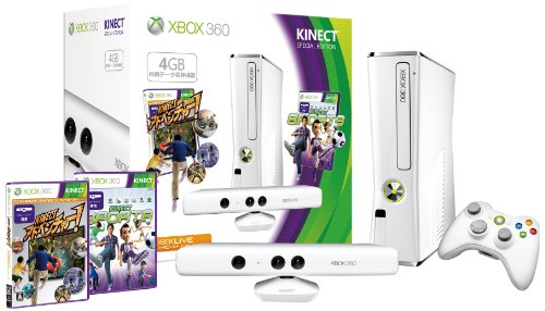 Xbox 360 4gb + Kinect Special Edition (Pure White)