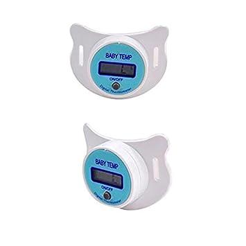 NAIZUI Termómetro oral para chupete LCD Digital Oral chupete ...