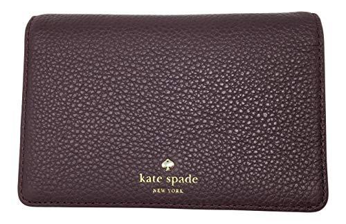 Kate Spade Larchmont Avenue Regina Card Key Holder Deep Plum WLRU5000 ()