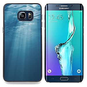Stuss Case / Funda Carcasa protectora - Light Blue Sea Underwater Sun - Samsung Galaxy S6 Edge Plus / S6 Edge+ G928