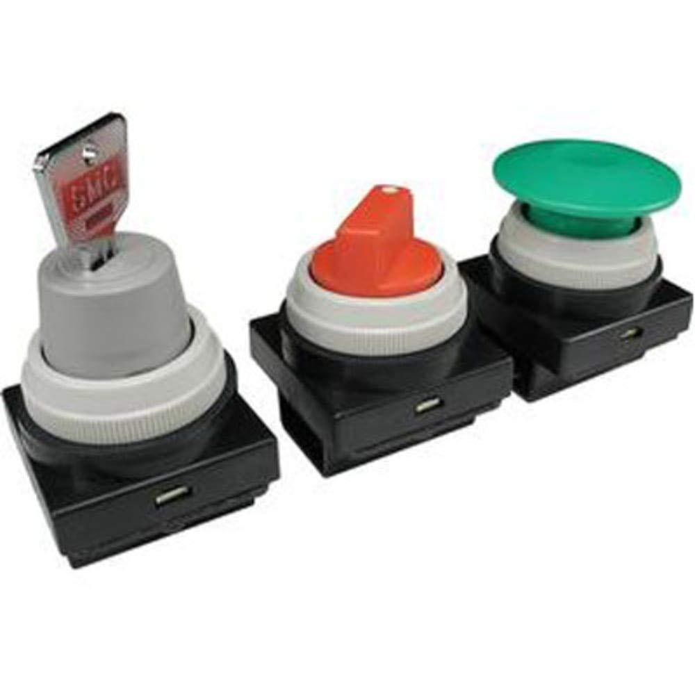 Mushroom Push Button; Green; VM200, Pack of 2