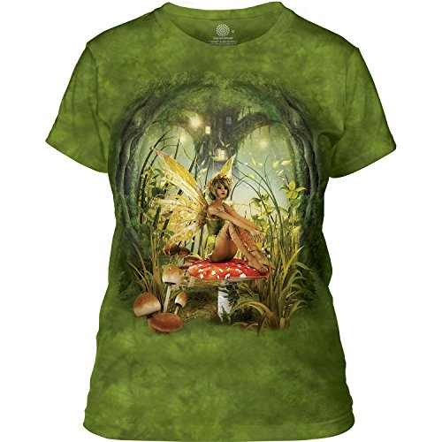 Fairy Xxl T-shirt - The Mountain Junior's Toadstool Fairy Graphic T-Shirt, Green, XX-Large