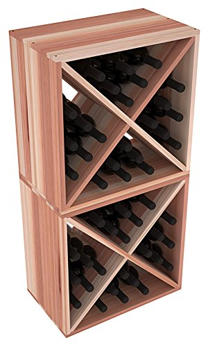 Wine Racks America Redwood 48 Bottle Wine Cube. 13 Stains to Choose From!
