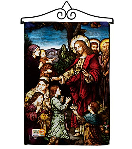 Ornament Collection GS192080-BO-02 Jesus Blessing The Children Inspirational Faith & Religious Impressions Decorative Vertical 13